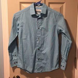 Boys long sleeve dress shirt size 10 slim